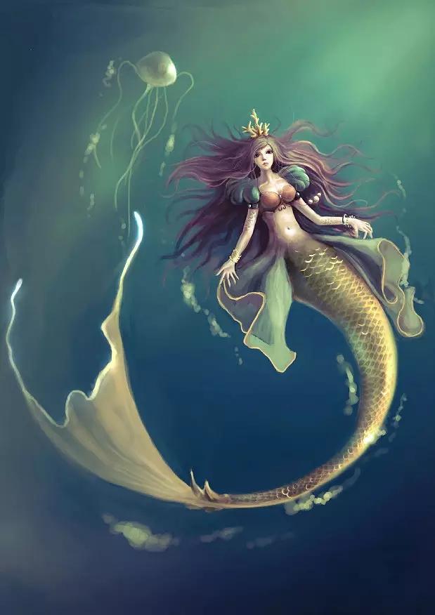 小美人鱼返回到海底,可是心里总是想念着王子.