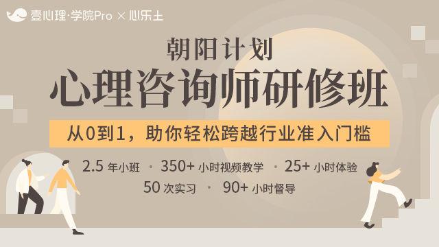 【定金通道】朝阳计划:心理咨询师研修班